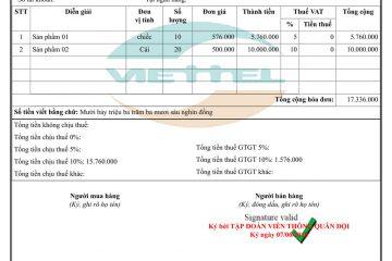 Dịch vụ đăng ký hóa đơn điện tử Viettel tại Đà Nẵng