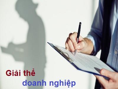 dịch vụ giải thể doanh nghiệp tại đà nẵng